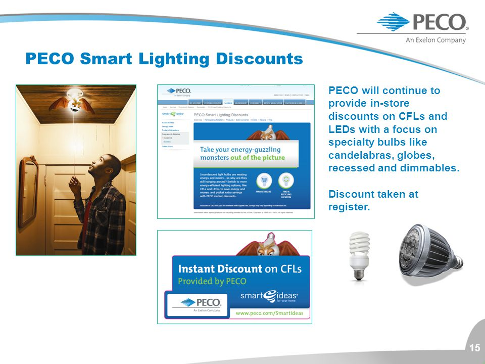 PECO Smart Lighting Discounts