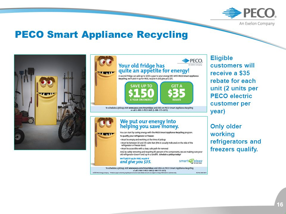 PECO Smart Appliance Recycling