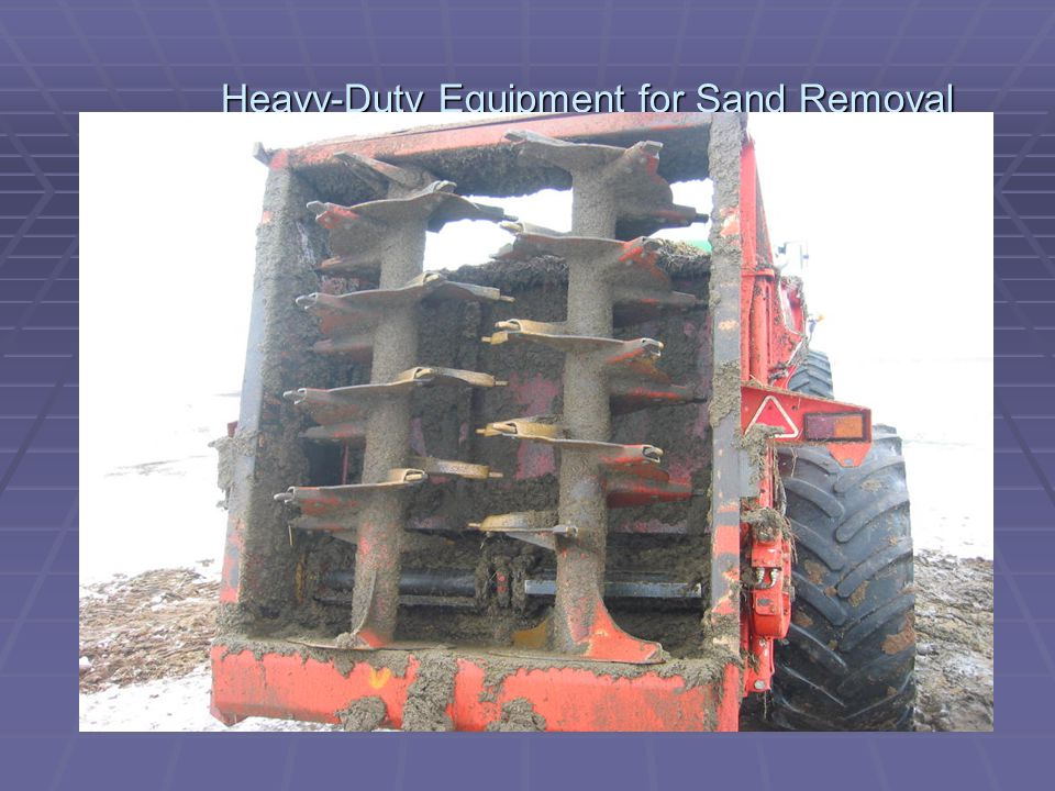 Heavy-Duty Equipment for Sand Removal