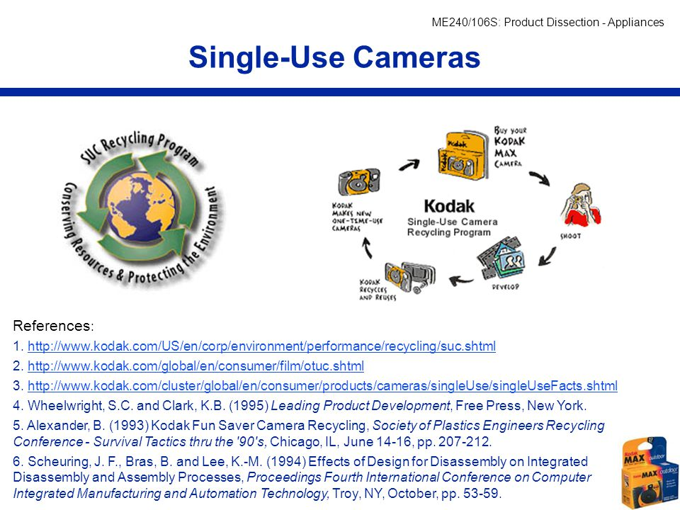 Single-Use Cameras References: