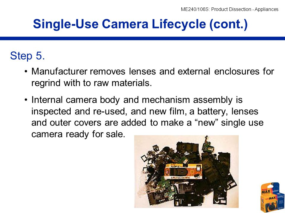 Single-Use Camera Lifecycle (cont.)