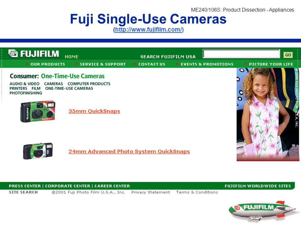 Fuji Single-Use Cameras (http://www.fujifilm.com/)