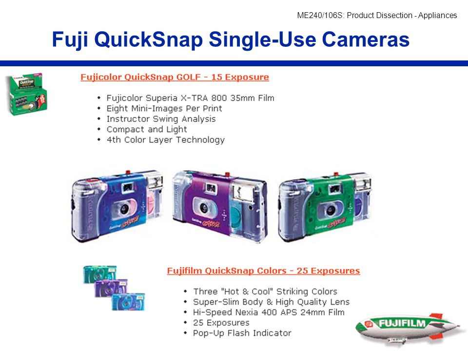 Fuji QuickSnap Single-Use Cameras