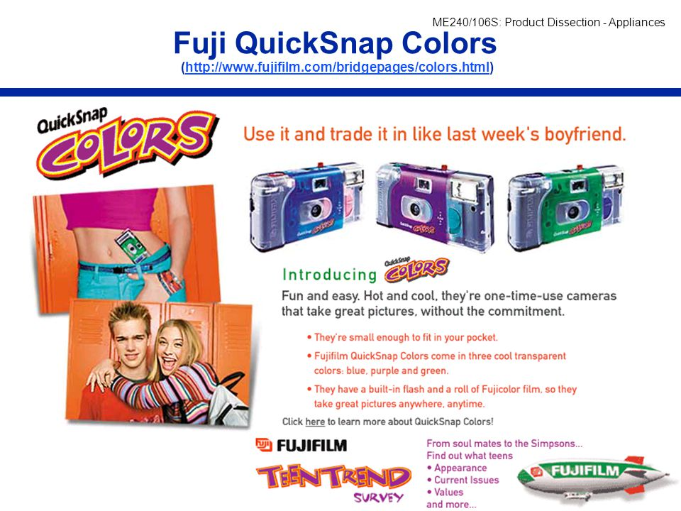 Fuji QuickSnap Colors (http://www. fujifilm. com/bridgepages/colors