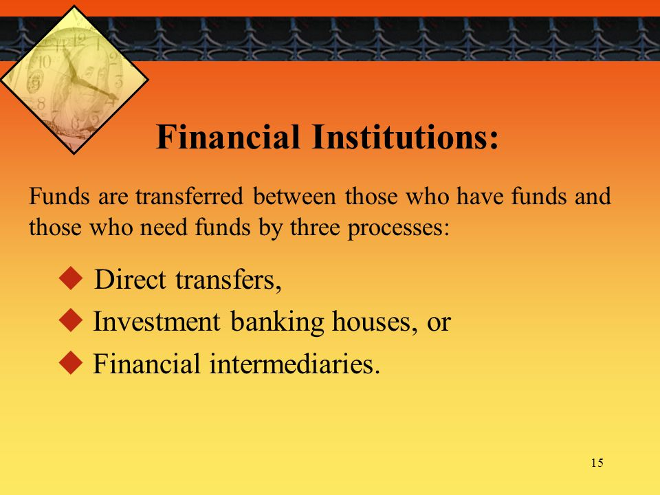Financial Institutions: