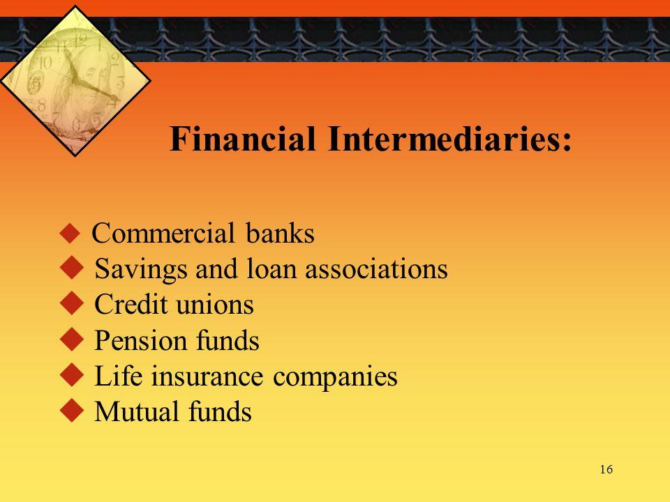 Financial Intermediaries: