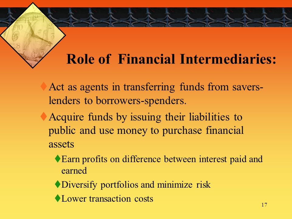 Role of Financial Intermediaries: