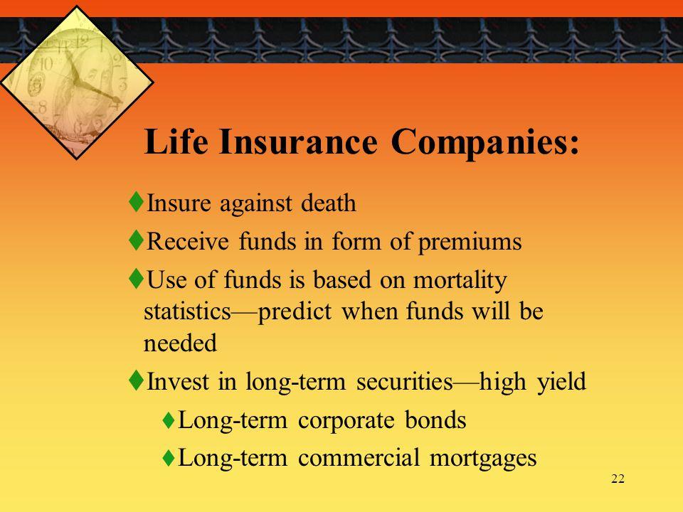 Life Insurance Companies: