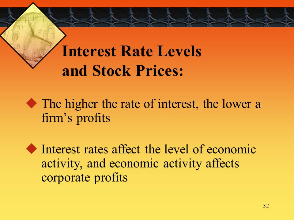 Interest Rate Levels and Stock Prices: