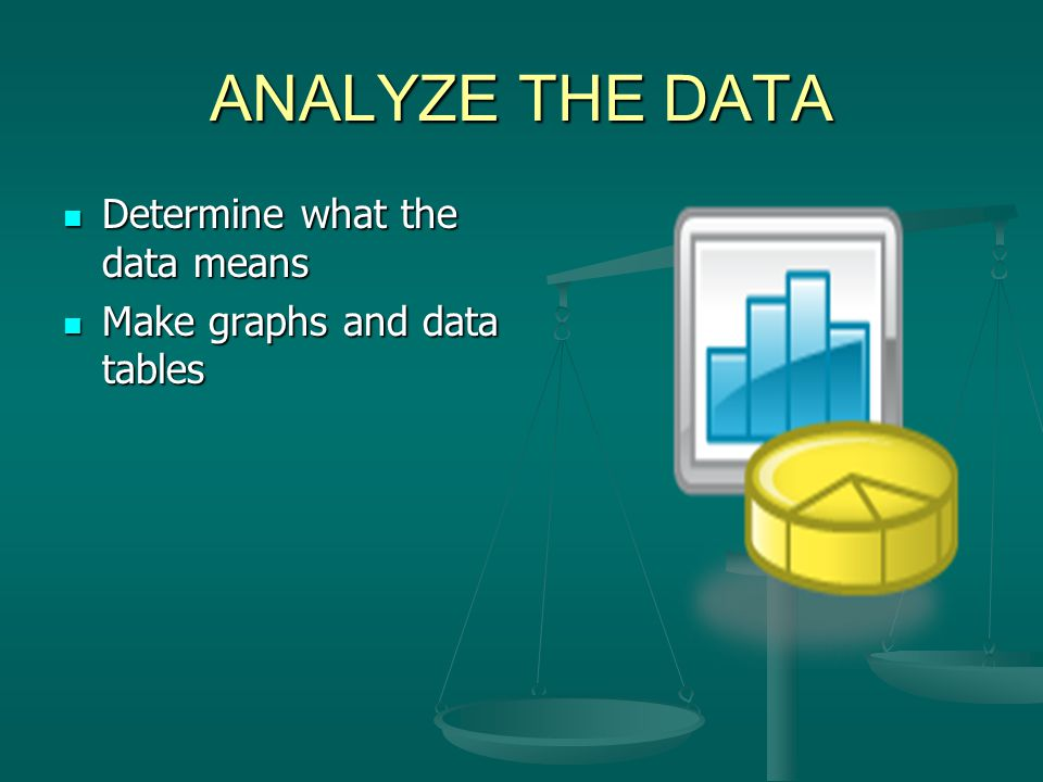 ANALYZE THE DATA Determine what the data means