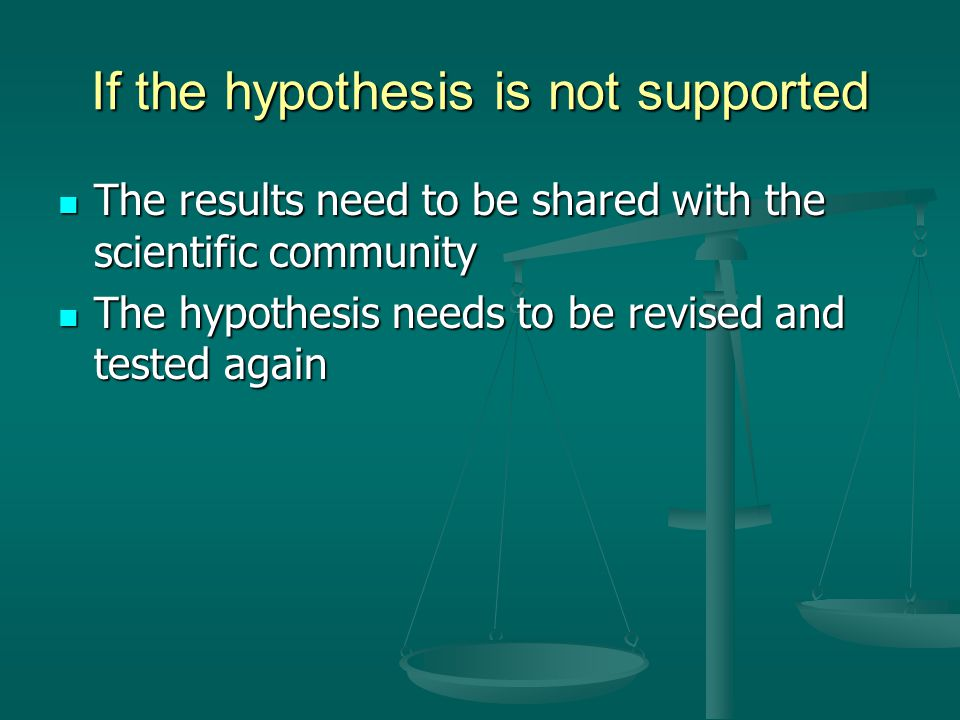 If the hypothesis is not supported