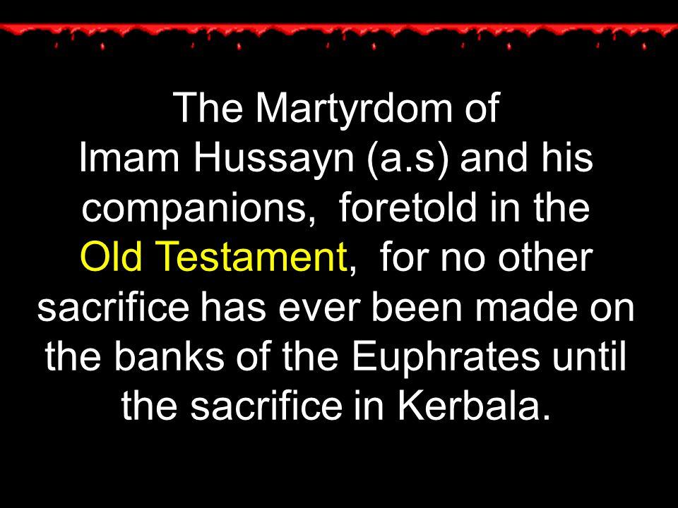 The Martyrdom of Imam Hussayn (a