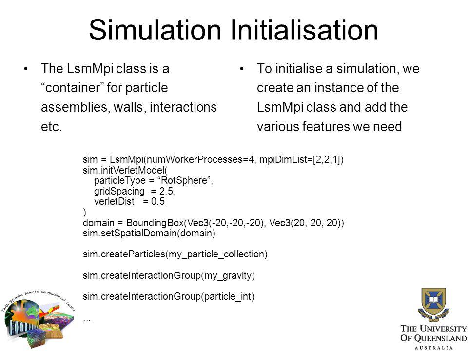 Simulation Initialisation