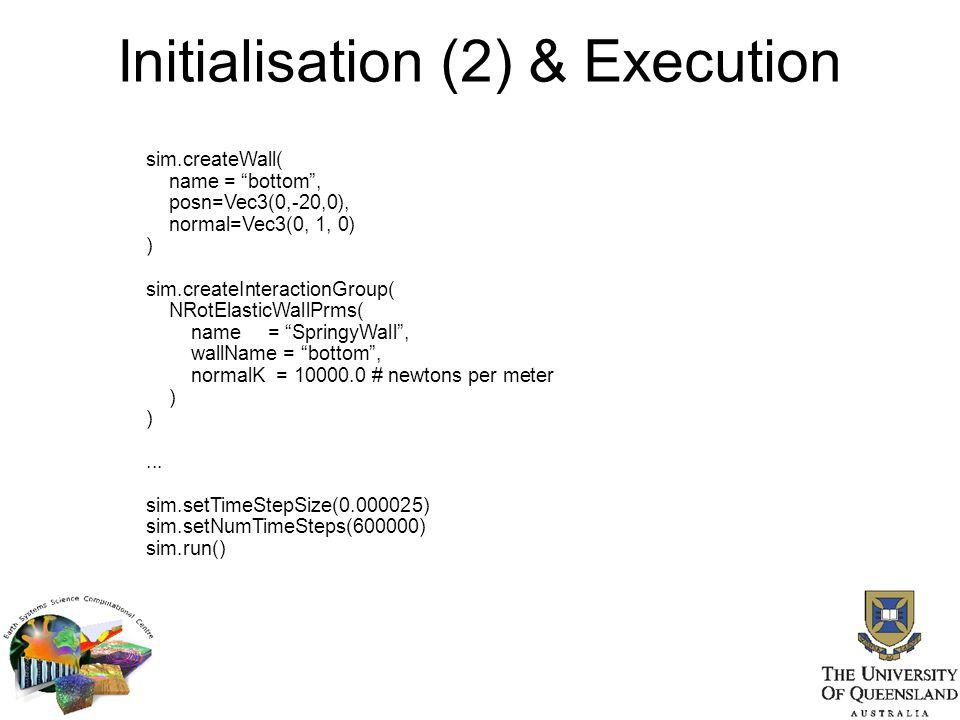 Initialisation (2) & Execution