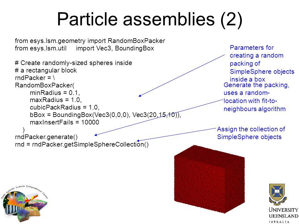 Particle assemblies (2)