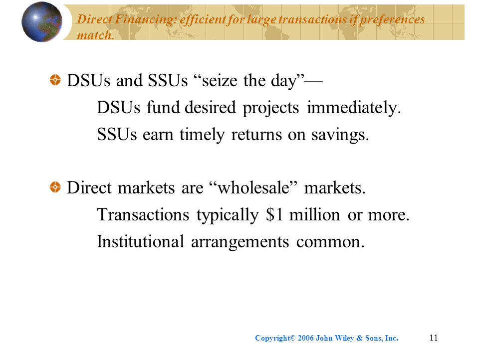 DSUs and SSUs seize the day — DSUs fund desired projects immediately.