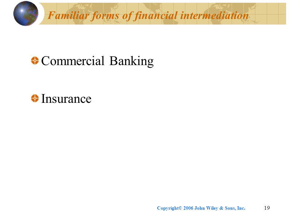 Familiar forms of financial intermediation