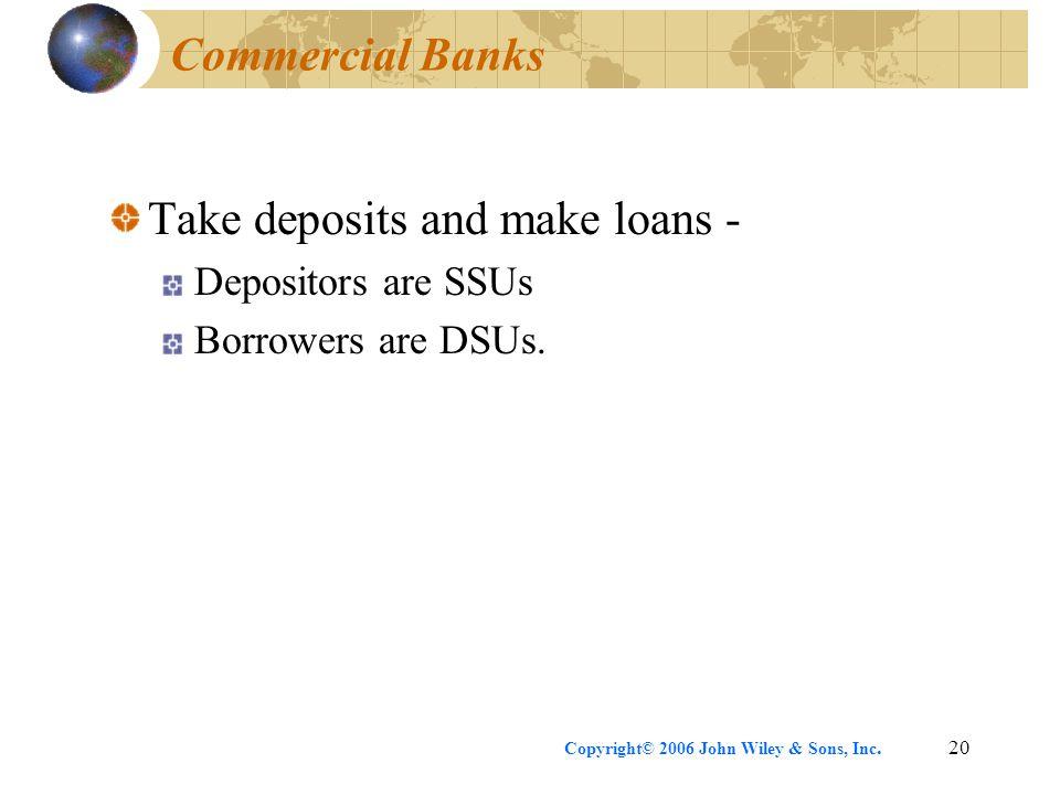 Take deposits and make loans -