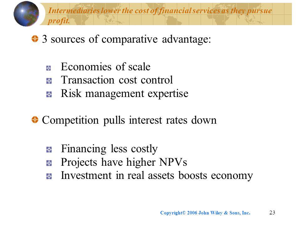 3 sources of comparative advantage: