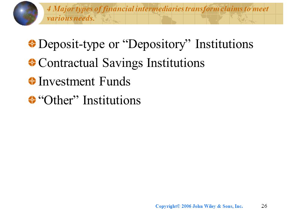Deposit-type or Depository Institutions