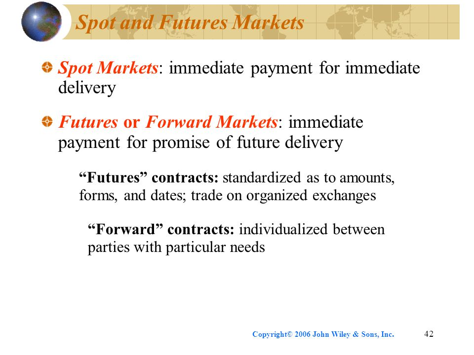 Spot and Futures Markets