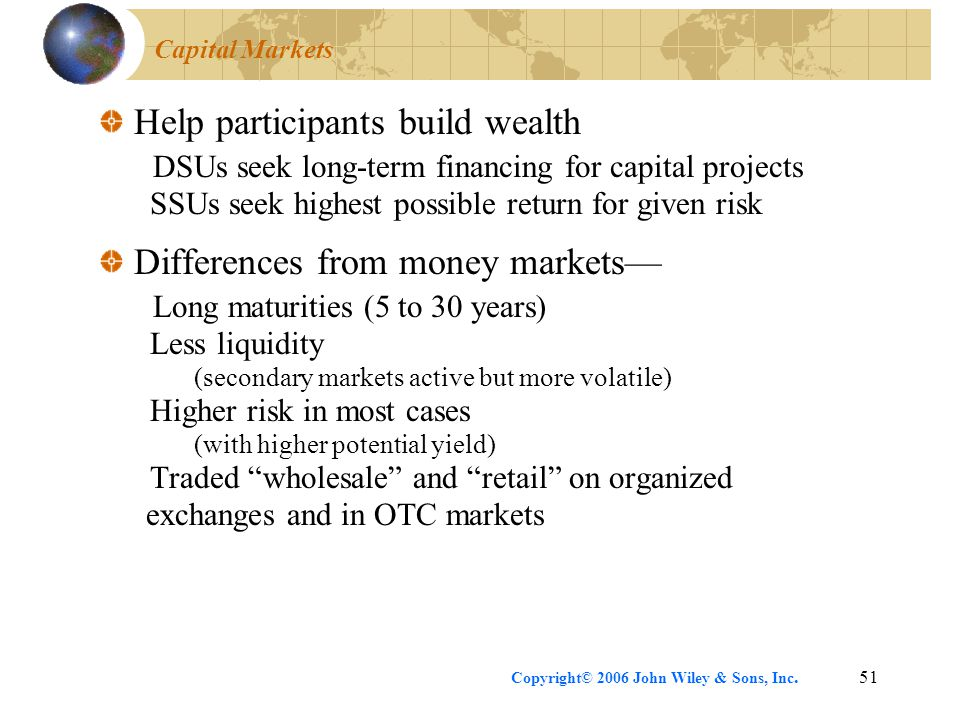 Help participants build wealth
