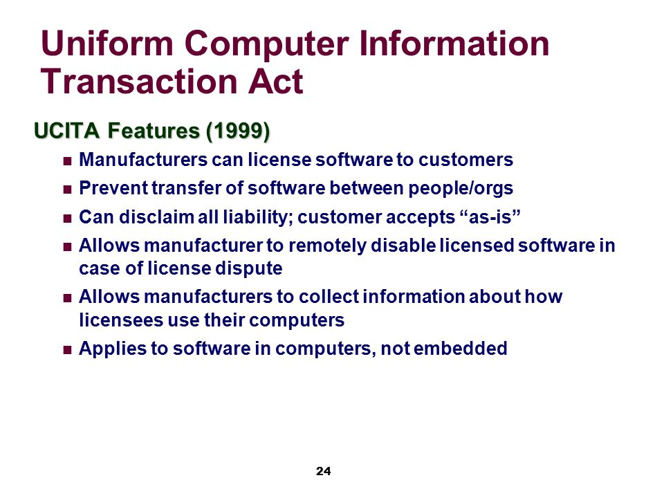 Uniform Computer Information Transaction Act