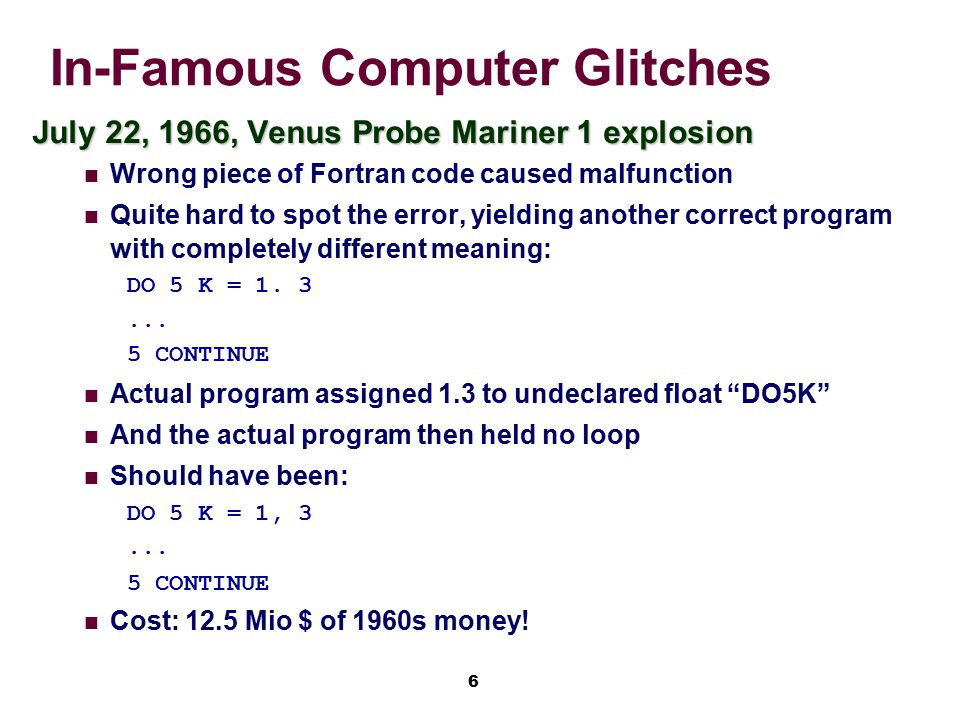 In-Famous Computer Glitches