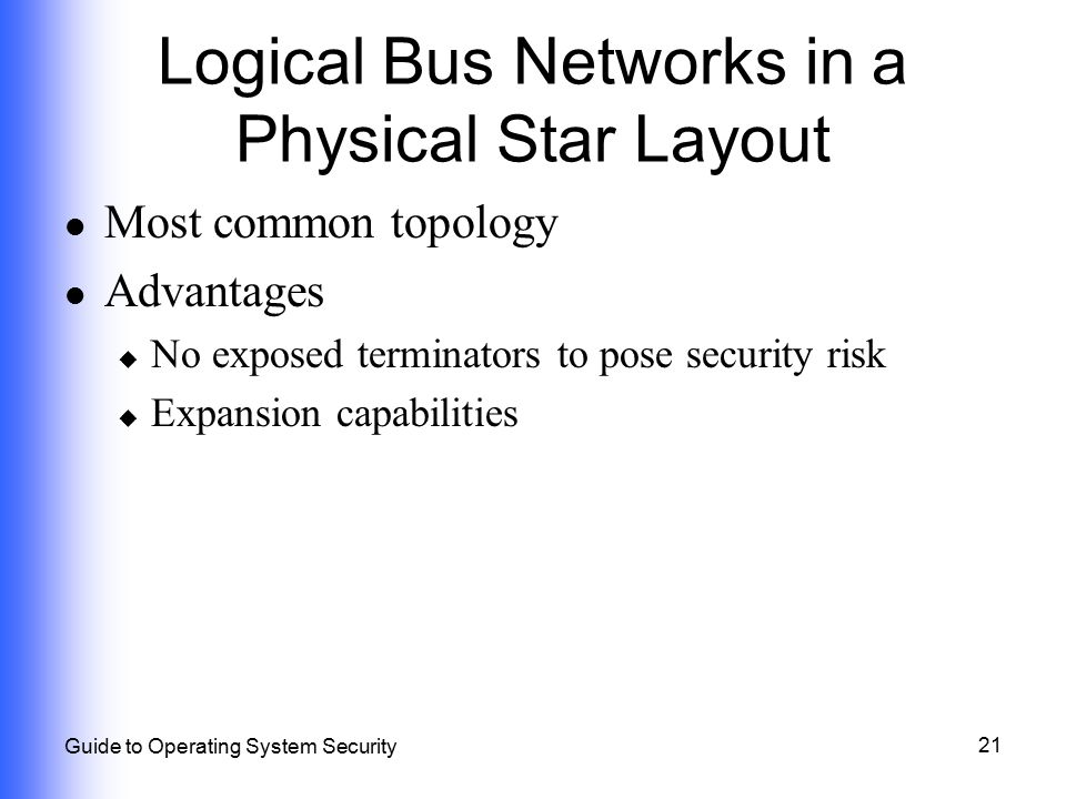 Logical Bus Networks in a Physical Star Layout