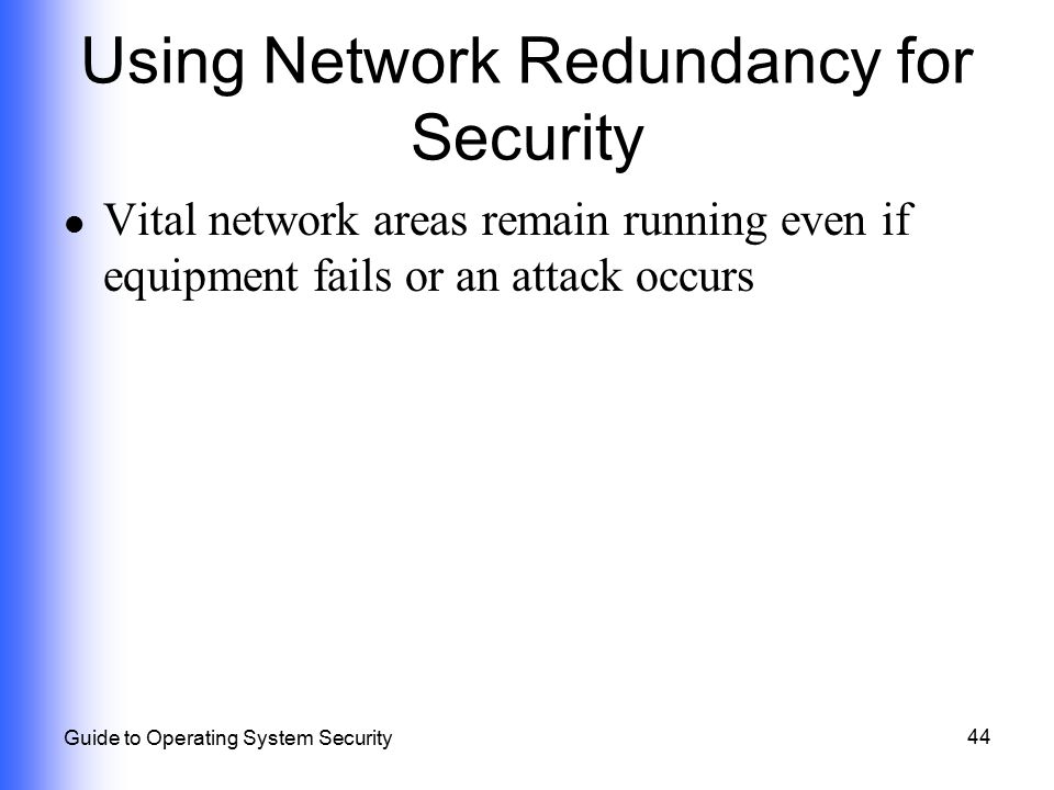 Using Network Redundancy for Security
