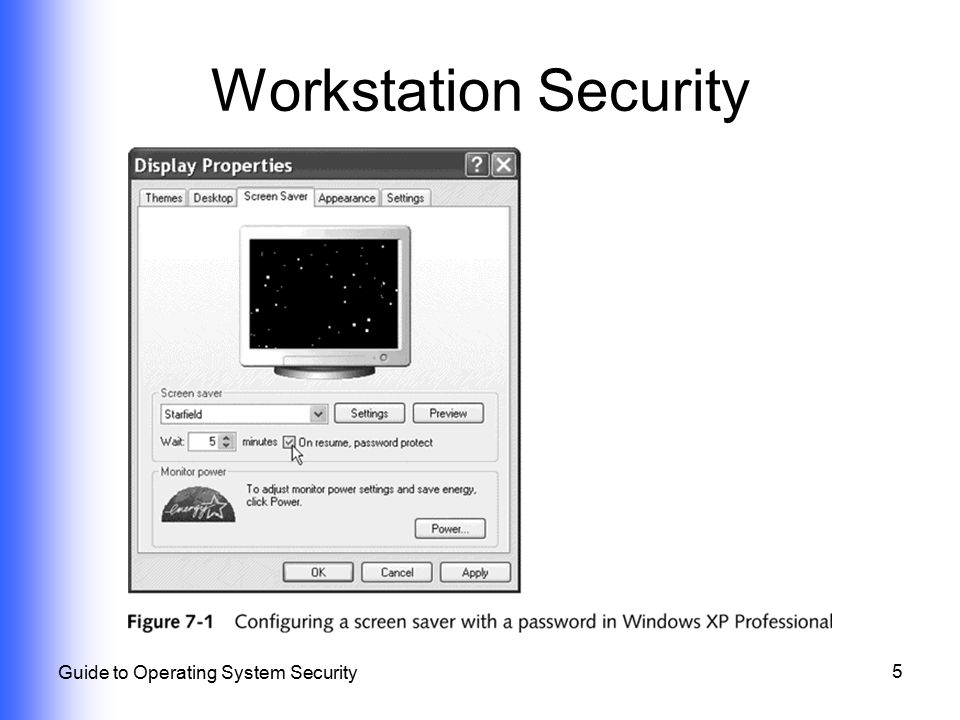 Workstation Security Guide to Operating System Security