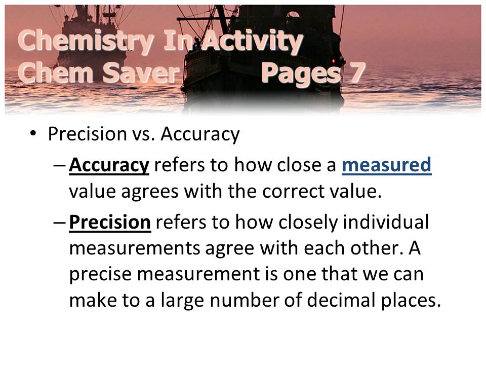 Chemistry In Activity Chem Saver Pages 7