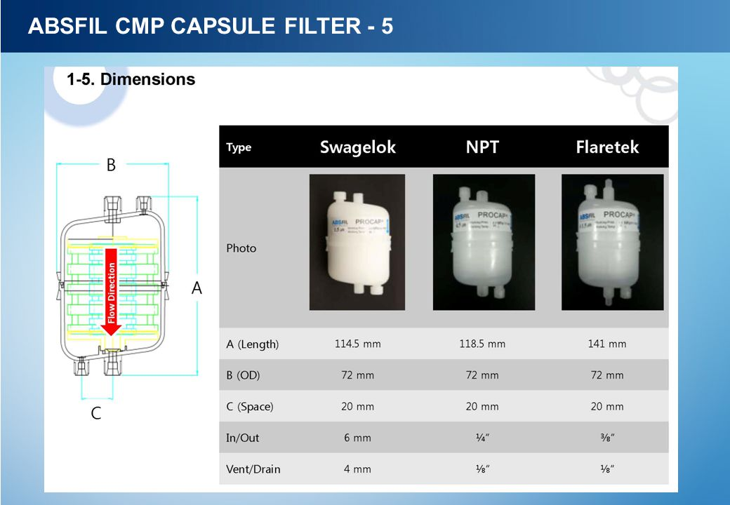 ABSFIL CMP CAPSULE FILTER - 5