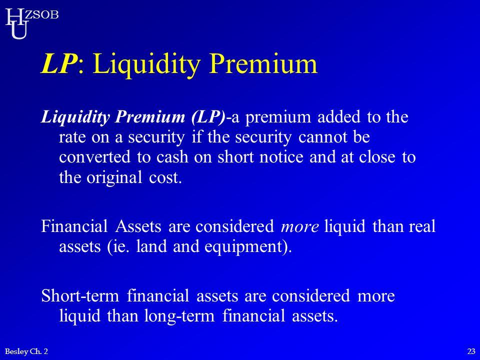 LP: Liquidity Premium