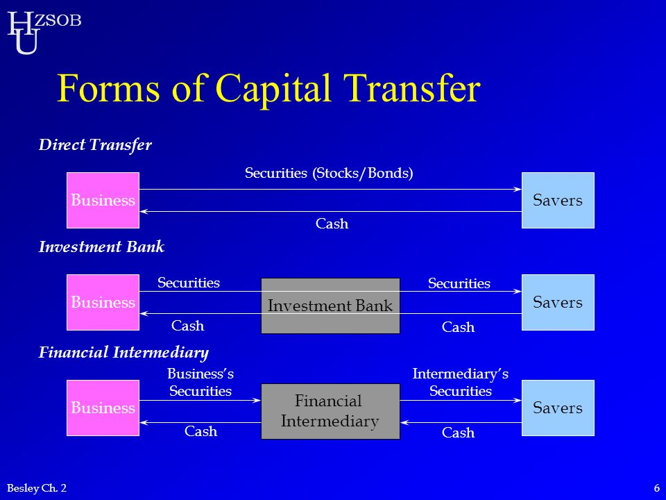 Forms of Capital Transfer