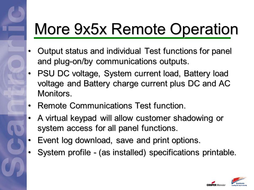 More 9x5x Remote Operation