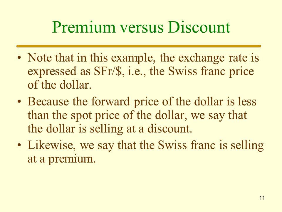 Premium versus Discount