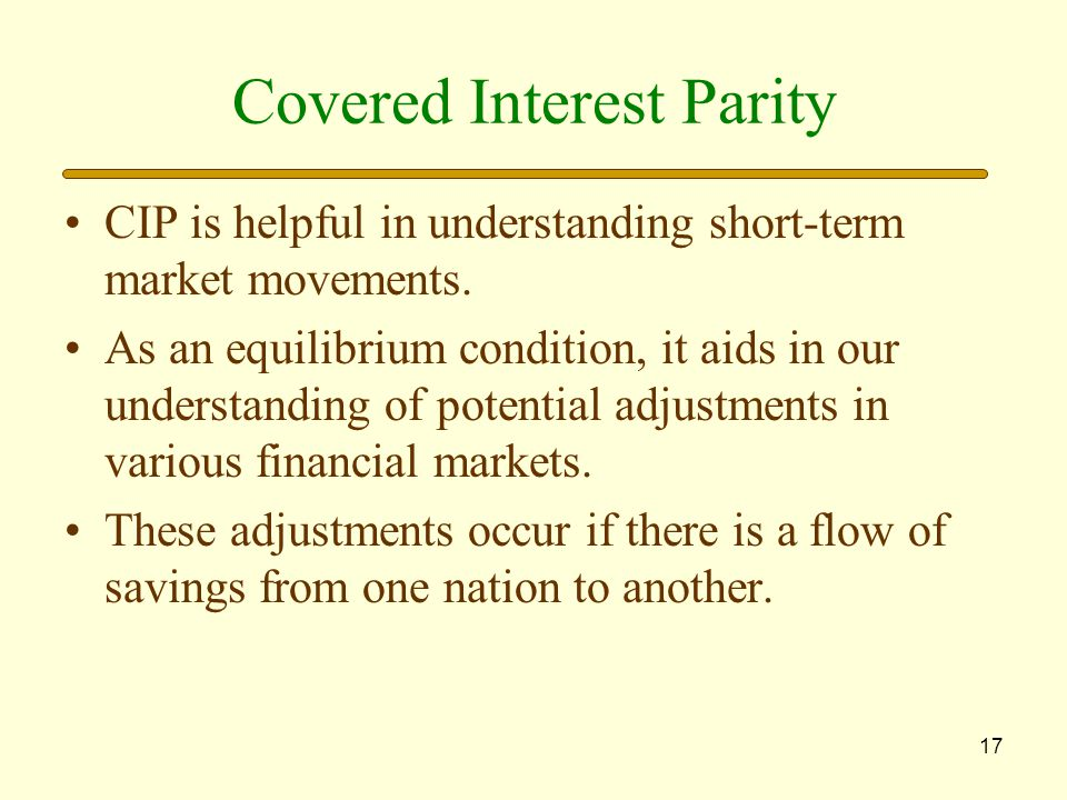 Covered Interest Parity