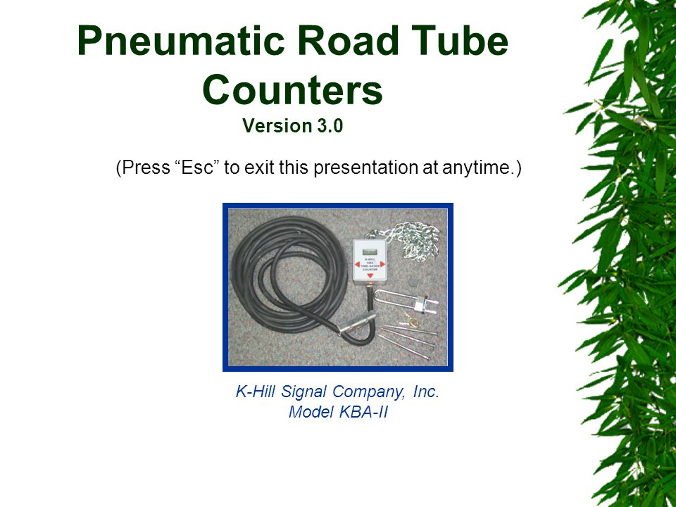 Pneumatic Road Tube Counters Version 3.0