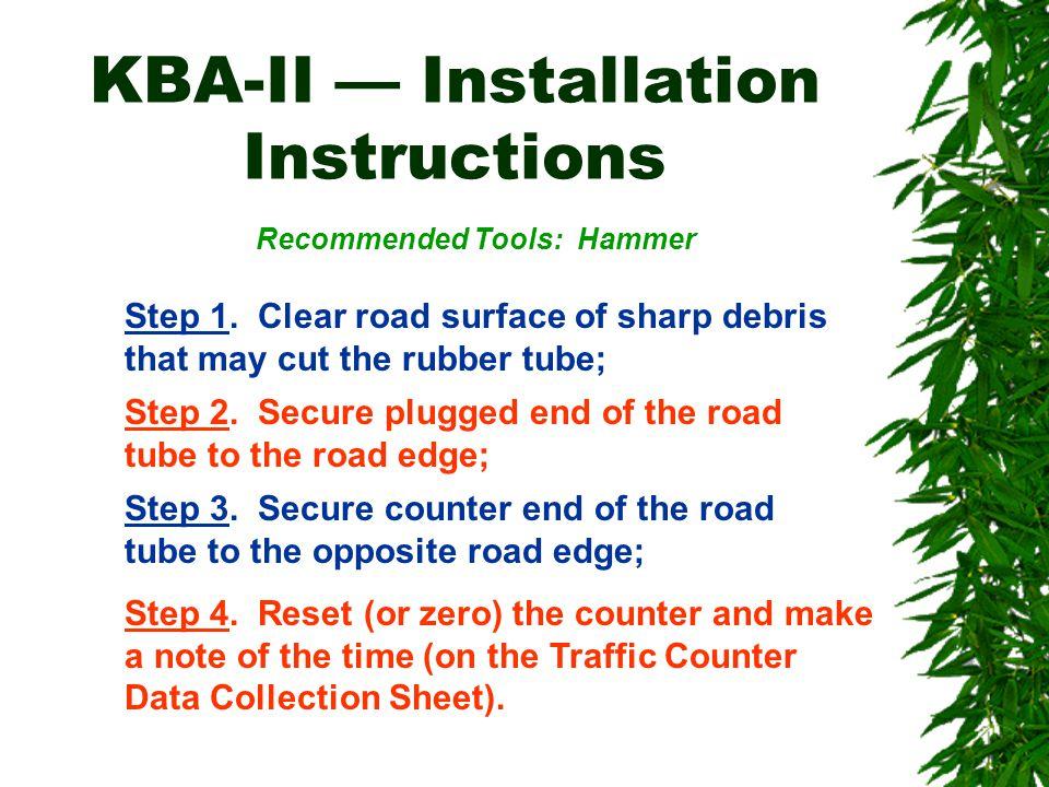 KBA-II — Installation Instructions