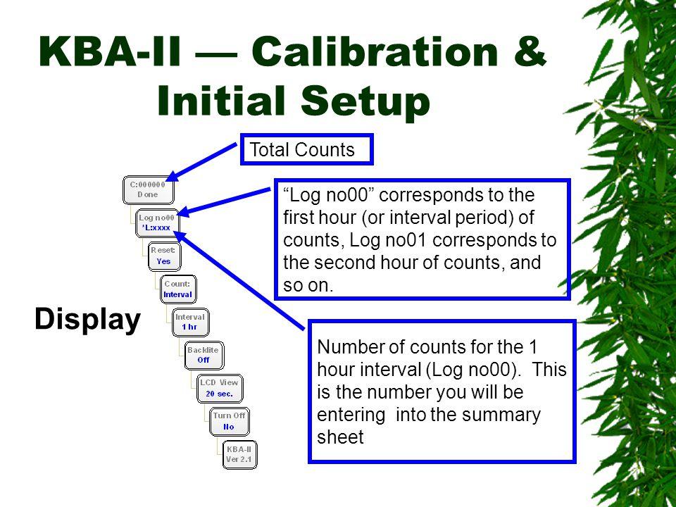 KBA-II — Calibration & Initial Setup