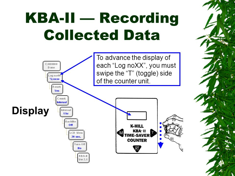 KBA-II — Recording Collected Data