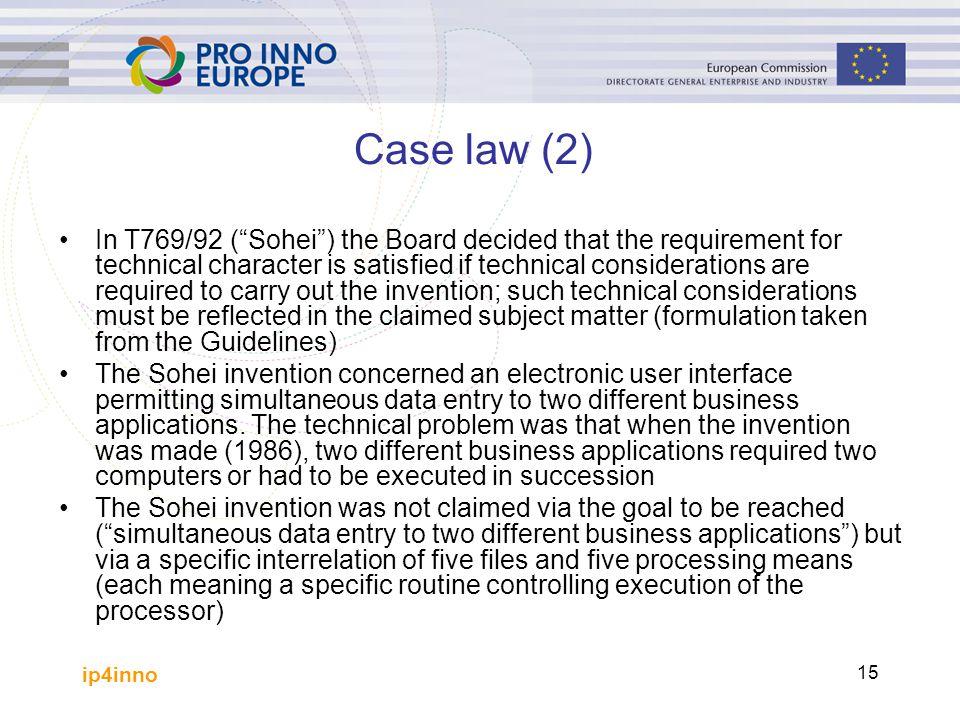 Case law (2)