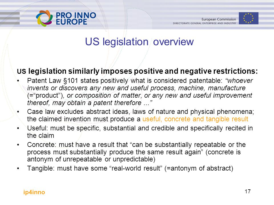 US legislation overview