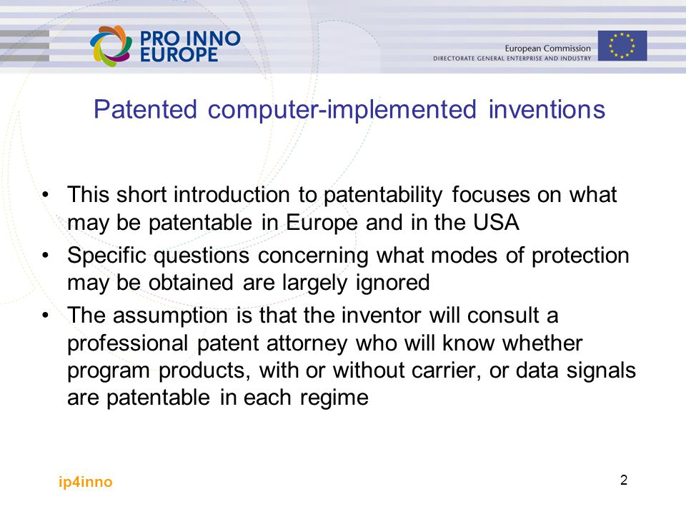 Patented computer-implemented inventions