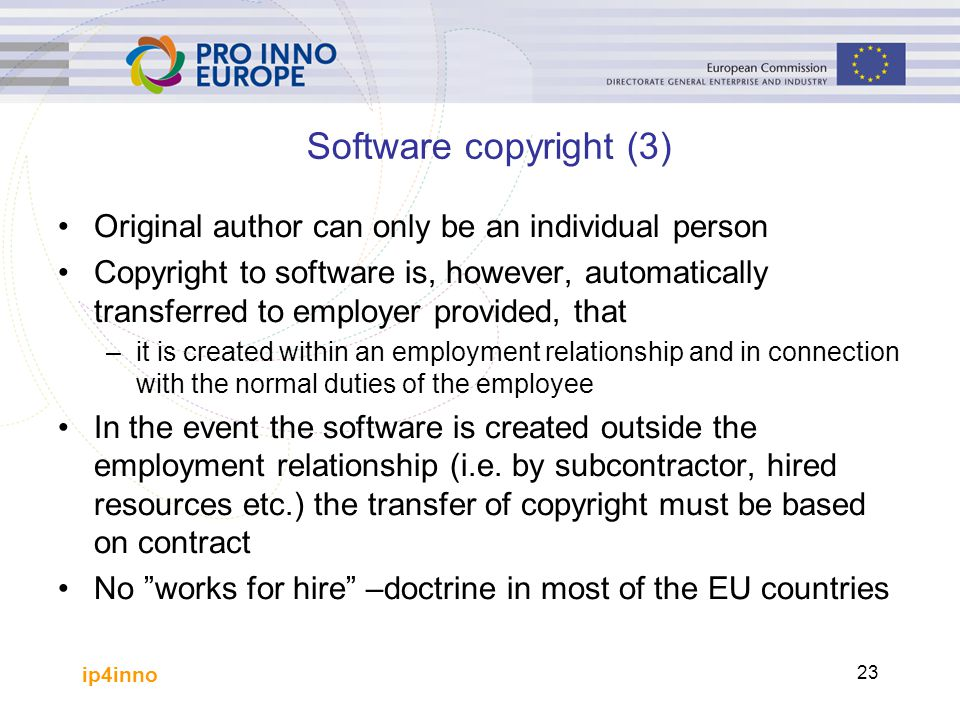 Software copyright (3) Original author can only be an individual person.