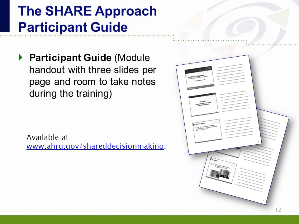 The SHARE Approach Participant Guide