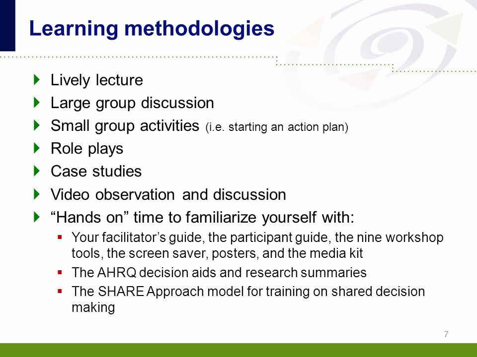 Learning methodologies