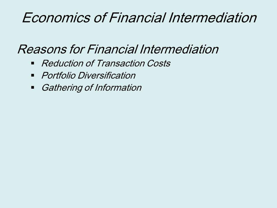 Economics of Financial Intermediation