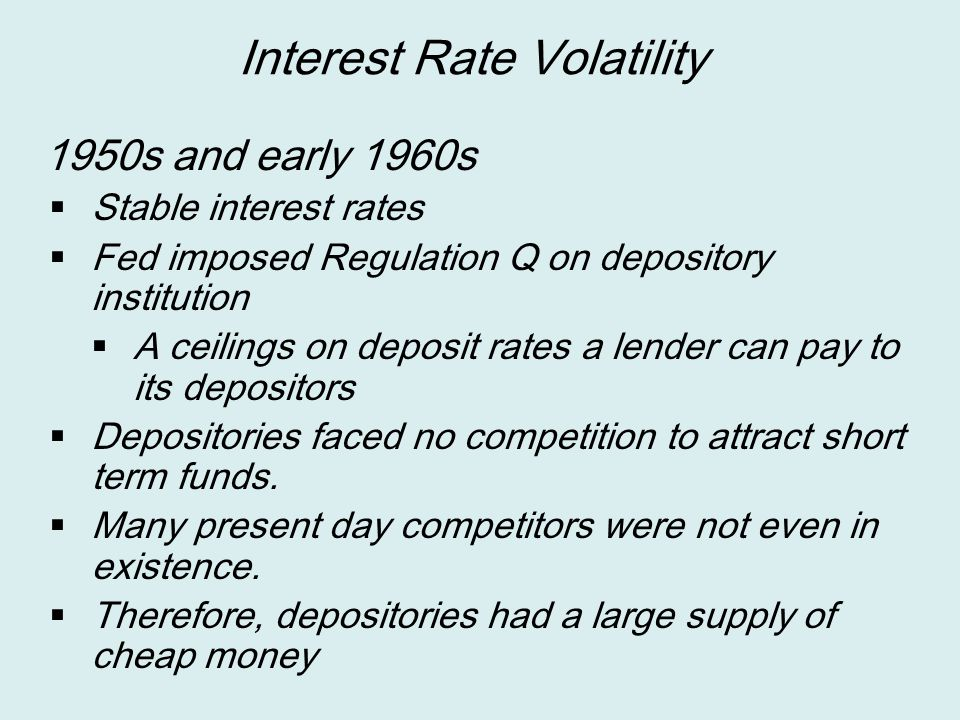 Interest Rate Volatility